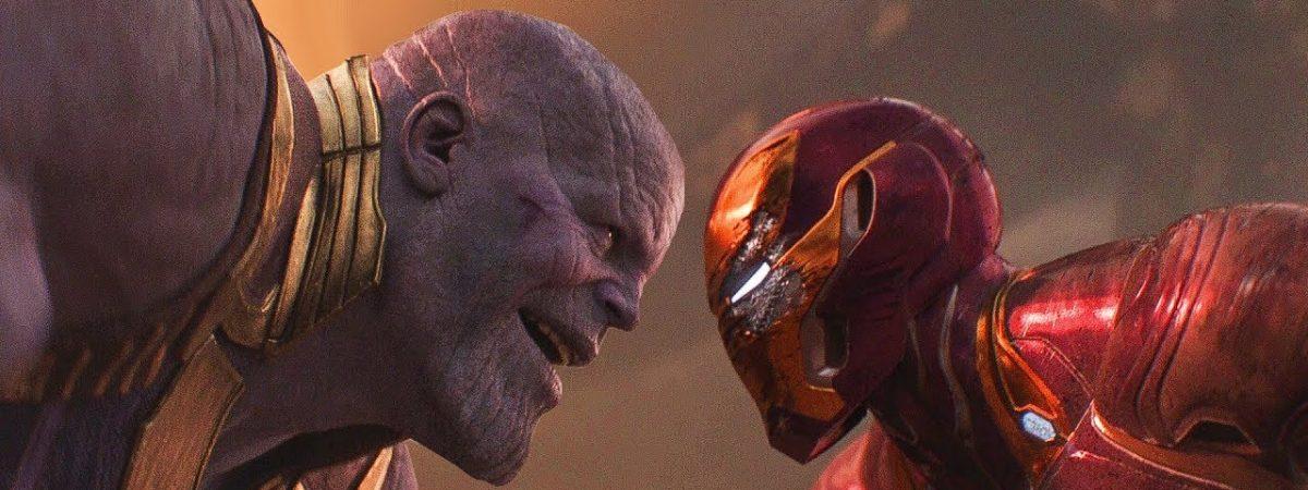 Iron Man vs Thanos fight scene